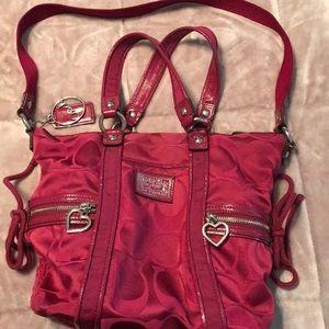 Super cute dark pink Coach bag!